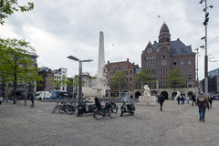 Amsterdam. NETHERLANDS - MAY, 16, 2017: The National Monument on Dam Square, , is a 1956 World War II monument in the Netherlands Stock Image