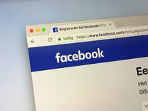 Official homepage of Facebook stock image