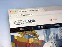 Official homepage of LADA royalty free stock images