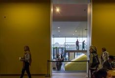 Amsterdam, Netherlands - May 6, 2015: People visit Stedelijk Musem in Amsterdam Stock Photography