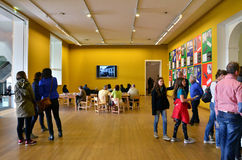 Amsterdam, Netherlands - May 6, 2015: People visit Stedelijk Museum in Amsterdam Stock Image