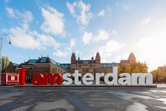 Amsterdam, Netherlands - May 03 2016: The Rijksmuseum Amsterdam Stock Photography
