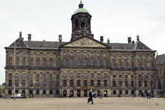 Amsterdam. NETHERLANDS - MAY, 16, 2017: Royal palace in the Dam square Royalty Free Stock Photo