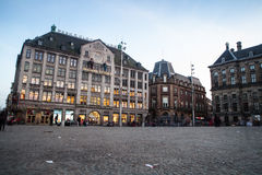 AMSTERDAM, THE NETHERLANDS - MAY 13, 2015: The Royal Palace on the dam square in Amsterdam Stock Images