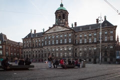 AMSTERDAM, THE NETHERLANDS - MAY 13, 2015: The Royal Palace on the dam square in Amsterdam Stock Photos