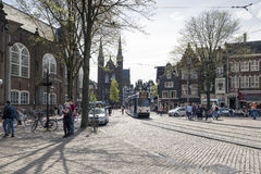 Amsterdam. NETHERLANDS - MAY, 15, 2017: The Spui is a square in the centre of . The Spui was originally a body of water that formed the southern limit of the Stock Photo