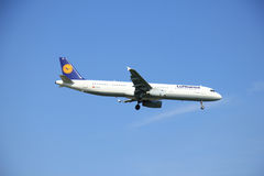 Amsterdam the Netherlands - May 6th 2016: D-AIRO Lufthansa Airbu Royalty Free Stock Photo