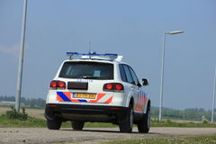Amsterdam, the Netherlands: May 6th, 2017: Dutch police car Stock Photos