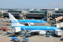 Amsterdam The Netherlands -  May 13th 2016: KLM Boeings 737 Royalty Free Stock Photo