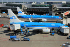 Amsterdam The Netherlands -  May 13th 2016: KLM Boeings 737 Stock Photo