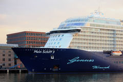 Amsterdam, The Netherlands - May 11th 2017: Mein Schiff 3 TUI Cruises Stock Photography
