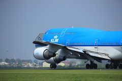 Amsterdam the Netherlands - May 6th, 2017: PH-BFE Boeing 747. Amsterdam the Netherlands - May 6th, 2017: PH-BFE KLM Boeing 747 takeoff from Polderbaan runway Stock Photography
