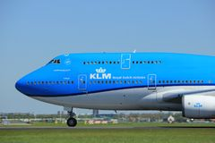 Amsterdam the Netherlands - May 4th 2018: PH-BFT KLM Royal Dutch Airlines Boeing 747-400M. Takeoff from Polderbaan runway, Amsterdam Airport Schiphol Stock Images
