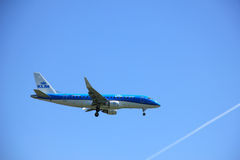 Amsterdam the Netherlands - May 5th 2016: PH-EXG KLM Cityhopper Royalty Free Stock Photography
