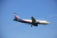 Amsterdam the Netherlands - May 6th 2016: VP-BQV Aeroflot - Russ Royalty Free Stock Photography