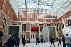 Amsterdam, Netherlands - May 6, 2015: Tourist in the modern atrium Rijksmuseum Stock Photo