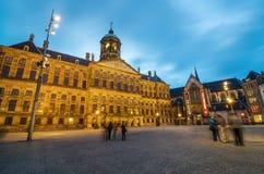 Amsterdam, Netherlands - May 7, 2015: Tourist visit Dam Square Stock Photo