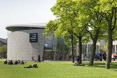 Amsterdam. NETHERLANDS - MAY, 15, 2017: The Van Gogh Museum  is a museum dedicated to the works of Vincent van Gogh. It is located at the Museum Square, close Stock Image