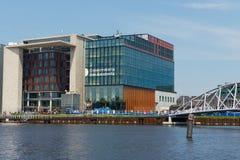 Conservatorium van Amsterdam modern building in Amsterdam, Netherlands. Royalty Free Stock Images