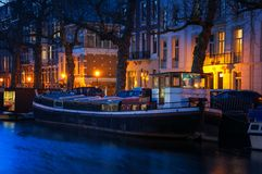 Amsterdam, Netherlands at night Stock Images