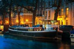 Amsterdam, Netherlands at night Royalty Free Stock Photo