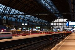 Amsterdam, Netherlands - November 2017: Amsterdam Centraal Station, one of the biggest and busiest train station. Amsterdam, Netherlands - November 2017 Royalty Free Stock Images