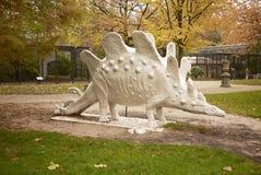 Dinosaur statue in amsterdam Zoo stock photo