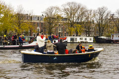 AMSTERDAM, THE NETHERLANDS - NOVEMBER, 18, 2012 - Trumpeter play Royalty Free Stock Photo