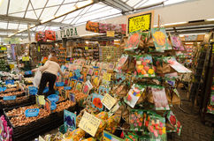 Amsterdam. NETHERLANDS - OCTOBER 20, 2013: People on Flower market on October 20, 2013. This is the only floating flower market in the world, and one of the Stock Image