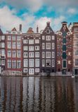 Stunning Canal Houses in Amsterdam stock photo