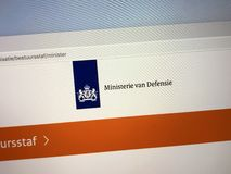 Website of The Dutch Ministry of Defence royalty free stock image