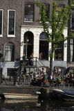 Amsterdam,Netherlands. People having lunch on a sunny afternoon Stock Photo