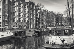 Amsterdam, Netherlands. Retro stylized Royalty Free Stock Photos