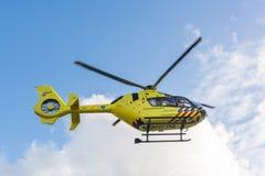 Ambulance Helicopter. Medical Air Assistance. AMSTERDAM, NETHERLANDS - SEPTEMBER 25, 2017: 112 Ambulance Helicopter. ANWB Medical Air Assistance MAA from royalty free stock image