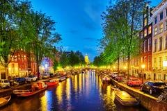 AMSTERDAM, NETHERLANDS-SEPTEMBER 15, 2015:Beautiful Amsterdam ci Royalty Free Stock Photos