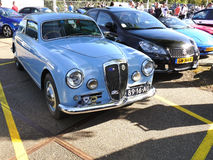 Amsterdam, The Netherlands - September 10, 2016: Blue Lancia Aurelia B20 1955 Royalty Free Stock Images