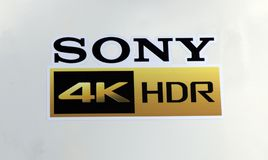Sony 4k HDR letters Royalty Free Stock Photo