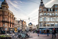 Amsterdam Netherlands street scene stock photos