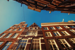 Amsterdam - Netherlands .Vulytsya in the historic center of Amst Stock Photos