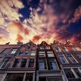 Amsterdam - Netherlands .Vulytsya in the historic center of Amst Stock Image
