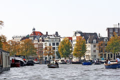 Amsterdam, Netherlands - Water Canal Stock Photo
