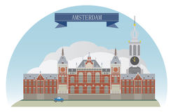 Amsterdam. Netherlands. For you design Stock Photo