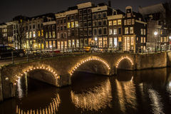 Amsterdam at Night Stock Photography