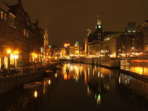 Amsterdam in night Royalty Free Stock Images