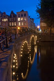 Amsterdam at night 3. Amsterdam at night. A bridge over the Herengracht canal at night in Amsterdam, the Netherlands Stock Photo