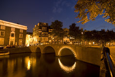 Amsterdam at Night Stock Image