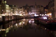 amsterdam night Στοκ Φωτογραφίες