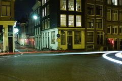 Amsterdam at Night. Shot with long exposure time Royalty Free Stock Photo