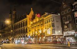 amsterdam night Στοκ φωτογραφίες με δικαίωμα ελεύθερης χρήσης