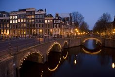 Amsterdam night 9 Royalty Free Stock Photography